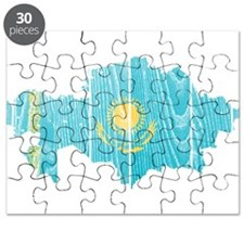 Kazakhstan Flag And Map Puzzle