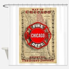 Chicago-18.png Shower Curtain
