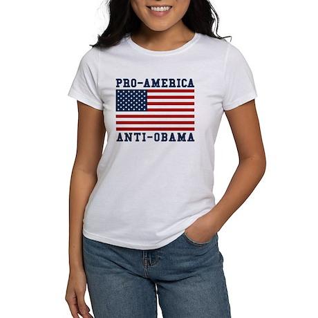 Pro-America Anti-Obama Women's T-Shirt