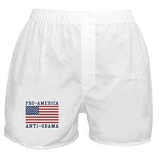 Pro-America Anti-Obama Boxer Shorts