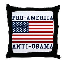 Pro-America Anti-Obama Throw Pillow