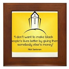 Rick Santorum I don't want to make black people's
