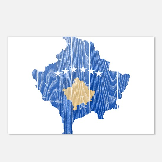Kosovo Flag And Map Postcards (Package of 8)