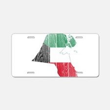 Kuwait Flag And Map Aluminum License Plate