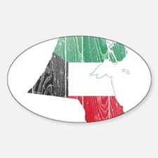 Kuwait Flag And Map Decal
