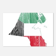 Kuwait Flag And Map Postcards (Package of 8)