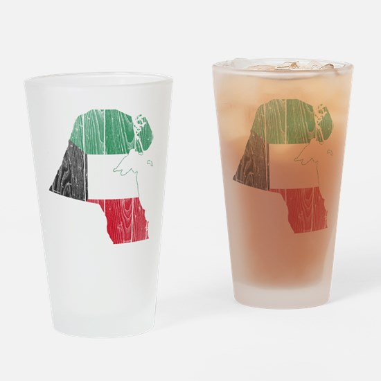 Kuwait Flag And Map Drinking Glass