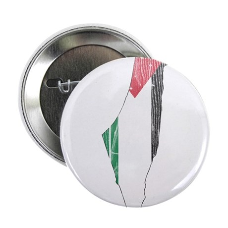 """Palestine Flag And Map 2.25"""" Button"""