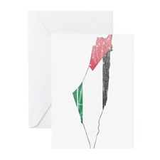 Palestine Flag And Map Greeting Cards (Pk of 10)