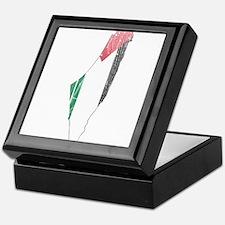Palestine Flag And Map Keepsake Box