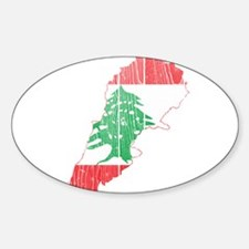 Lebanon Flag and Map Wood.png Decal