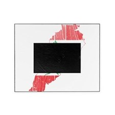 Lebanon Flag and Map Wood.png Picture Frame