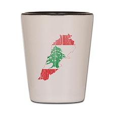 Lebanon Flag and Map Wood.png Shot Glass