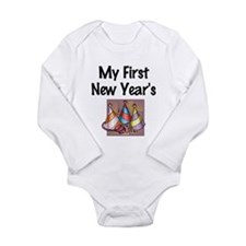 My First New Year's Long Sleeve Infant Bodysuit