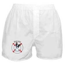 Boston Terrier First Mate Boxer Shorts