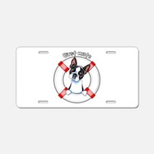 Boston Terrier First Mate Aluminum License Plate