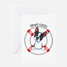 Boston Terrier First Mate Greeting Card
