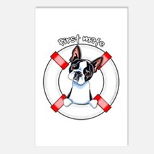 Boston Terrier First Mate Postcards (Package of 8)