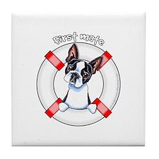 Boston Terrier First Mate Tile Coaster
