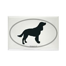 Am Water Spaniel Silhouette Rectangle Magnet