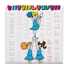 Cheerleader Youth Design Tile Coaster