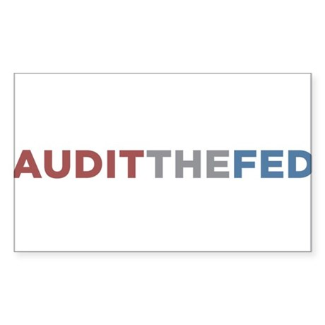 AUDIT THE FED Sticker (Rectangle)