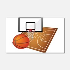 Basketball Court Car Magnets Personalized Basketball Court - Custom basketball car magnets