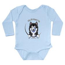 Alaskan Malamute IAAM Long Sleeve Infant Bodysuit