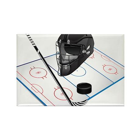 Hockey Rectangle Magnet (100 pack)