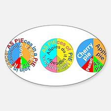 3 piece peace pies Sticker (Oval)