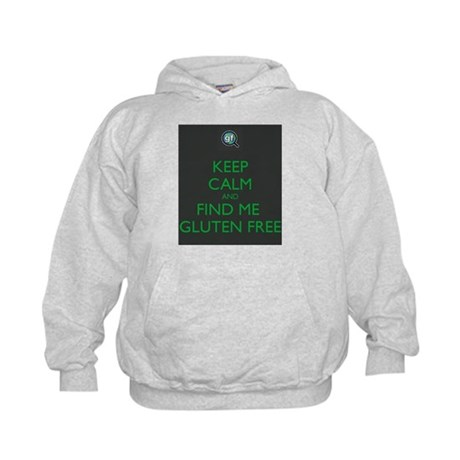 Keep Calm and Find Me Gluten Free Kids Hoodie