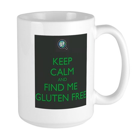 Keep Calm and Find Me Gluten Free Large Mug