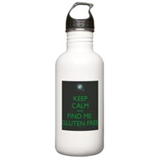 Keep Calm and Find Me Gluten Free Water Bottle