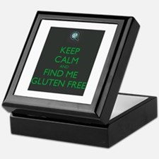 Keep Calm and Find Me Gluten Free Keepsake Box