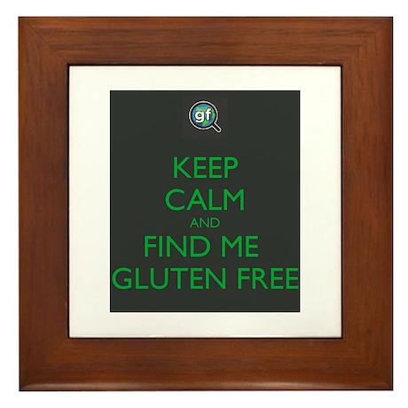 Keep Calm and Find Me Gluten Free Framed Tile