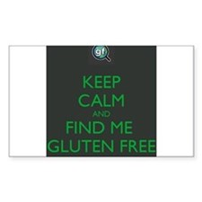 Keep Calm and Find Me Gluten Free Decal