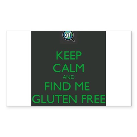 Keep Calm and Find Me Gluten Free Sticker (Rectang