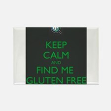 Keep Calm and Find Me Gluten Free Rectangle Magnet
