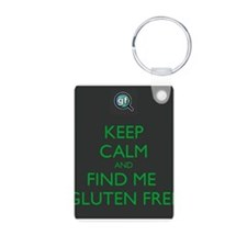 Keep Calm and Find Me Gluten Free Keychains