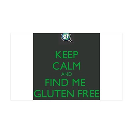 Keep Calm and Find Me Gluten Free 35x21 Wall Decal