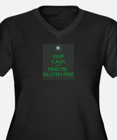 Keep Calm and Find Me Gluten Free Women's Plus Siz