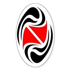 Tribal diver sticker