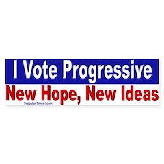 Vote Progressive Bumper Bumper Sticker