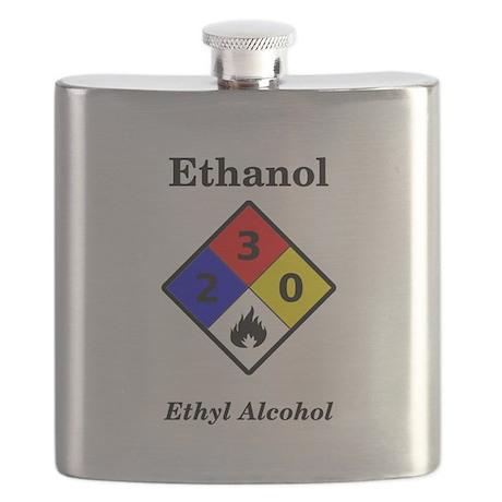 Ethanol MSDS Warning Flask
