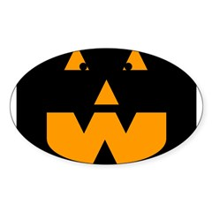 Scary Pumpkin Oval Decal