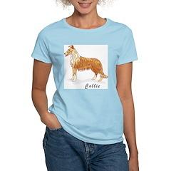 Collie Women's Pink T-Shirt