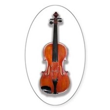 The Violin Oval Decal