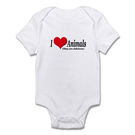 """""""I Love Animals (They are delicious) Infant Creepe"""