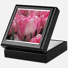 Pink Tulips Keepsake Box
