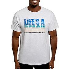 LIFESABEACH1_whtT T-Shirt